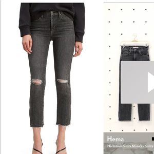 Levi's 724 high rise straight cropped jean